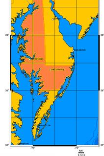 Delmarva Peninsula Large peninsula on the East Coast of the US
