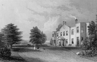 Denbies - The mansion on the estate in about 1840, when it was owned by the Denison family