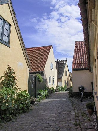 Dragør Municipality - A narrow street in Dragør