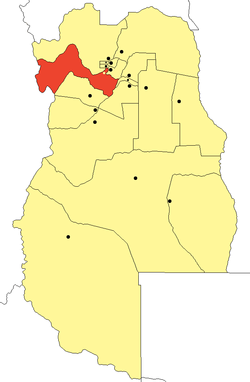 location of Luján de Cuyo Department in Mendoza Province