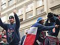 Derek Lowe and Pedro Martinez WS Victory Parade.jpg