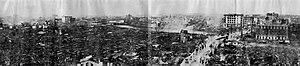 1923 Great Kantō earthquake - Desolation of Nihonbashi and Kanda seen from the Roof of Dai-ichi Sogo Building, Kyōbashi