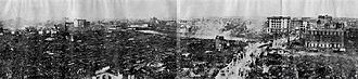 1923 Great Kantō earthquake - Desolation of Nihonbashi and Kanda seen from the Roof of Dai-ichi Sogo Building, Kyōbashi