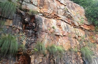 Eparchaean Unconformity - Image: Detrital rocks of Tirumala Hills Ghatroad Tirupati
