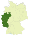 Map of Germany: Position of the Regionalliga West/Südwest highlighted