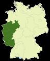 Deutschland Lage der Regionalliga West-Südwest.png