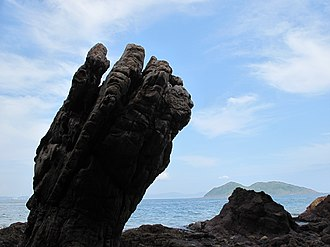 Hong Kong Global Geopark - Devil's Fist at Bluff Head (Wong Chuk Kok Tsui)