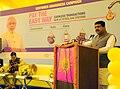 Dharmendra Pradhan addressing at the launch of the customer awareness campaigns on cashless transactions, at IGL Naglamachi CNG Station, near Pragati Maidan, in New Delhi.jpg