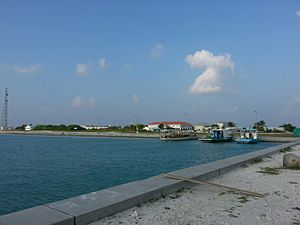Dhuvaafaru - Dhuvaafaru Harbour, funded by US and Maldives government jointly.