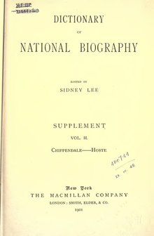 Dictionary of National Biography. Sup. Vol II (1901).djvu