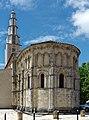 Die Kirche in Saint-Vivien-de-Medoc mit romanischer Apsis aus dem zwölften Jahrhundert. 01.jpg