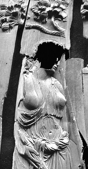 Symmachi–Nicomachi diptych - Detail, with lost surface