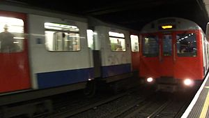 File:District line trains at St James Park.ogv