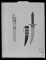 Dolk, fäste och klinga ej ursprungligen samhörande. 1800-tal - Livrustkammaren - 62133.tif