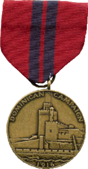 Dominican Campaign Medal - Image: Dominican F
