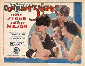 Don Juan's Three Nights - Lobby card