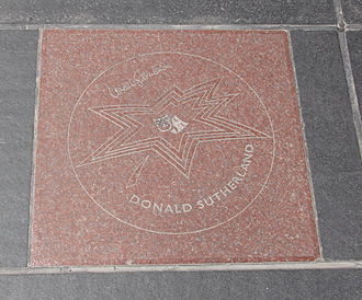 Donald Sutherland - Sutherland's star on Canada's Walk of Fame