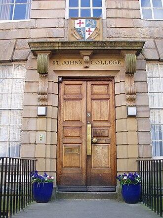 St John's College, Durham - Entrance to Haughton House
