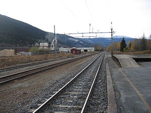 Dovre Line - Dovrebanen at Kvam Station