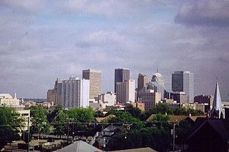 History of Oklahoma City - Oklahoma City skyline.
