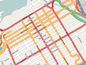 Downtown Ottawa - Map of downtown Ottawa (from OpenStreetMap).