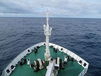 Drake Passage - Tourist expedition ship Akademik Ioffe sailing across the Drake Passage to Antarctica
