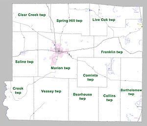 Drew County, Arkansas - Townships in Drew County, Arkansas as of 2010