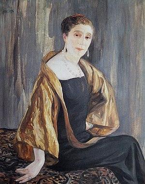 Jeanne Lanvin - Portrait of Jeanne Lanvin in 1925 by Clémentine-Hélène Dufau, Musée des Arts Décoratifs, Paris.