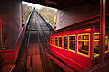 Duquesne Incline lower station with incline car.jpg