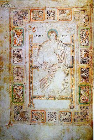 Durham Cassiodorus - Image: Durham Cassiodorus Fol 81v David Musician