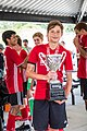 Dylan Thelin with GA State Cup Trophy 2018.jpg