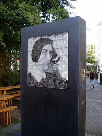 Else Lasker-Schüler - Lasker-Schüler memorial by Stephan Huber in Elberfeld, Wuppertal