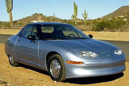 General Motors EV1 electric car (1996-1998), story told in movie Who Killed the Electric Car? EV1A014 (1) cropped.jpg