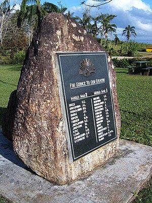 Lake Eacham - Eacham war memorial, 2006