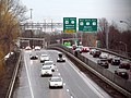 East end of Massachusetts Route 2 from footbridge, March 2017.JPG