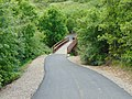 East footbridge over Hobble Creek on Hobble Creek Canyon Parkway, Utah County, Utah, May 16.jpg