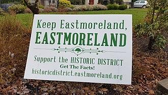 Eastmoreland Historic District - Image: Eastmoreland HD signage (2017) 1