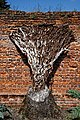 Easton Lodge Gardens walled garden tree stump, Little Easton, Essex, England.jpg