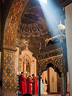 Echmiadzin Cathedral, Central Armenia. Mothership of the Armenian Apostolic Church, built in 301 AD