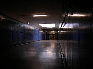 A hallway at the Eckstein Middle School, Seatt...