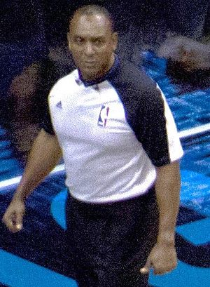 Eddie Rush - Rush officiating the December 21, 2011 preseason game between the Miami Heat and Orlando Magic at the Amway Center in Orlando