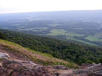 Flintstone, Georgia - Chattanooga Valley, looking toward Flintstone