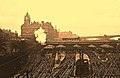 Edinburgh Rail. Waverley Station with Steam Train. circa 1965 - panoramio.jpg