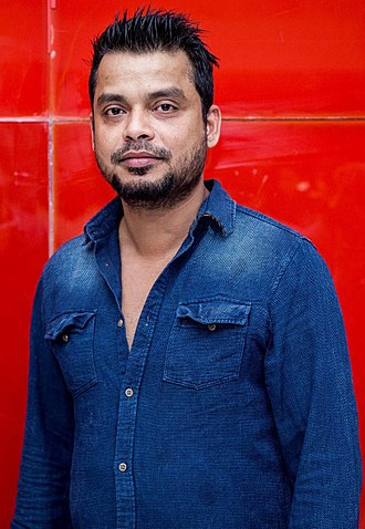 Anthony (film editor) - Image: Editor Anthony at Oru Naal Iravil Trailer Launch