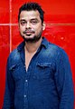 Editor Anthony at Oru Naal Iravil Trailer Launch.jpg