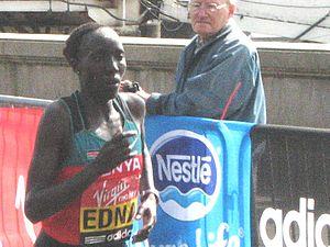 Edna Kiplagat - Kiplagat at the 2011 London Marathon.
