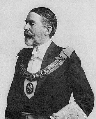 Edward Fitzmaurice Inglefield - Rear-Admiral Edward Fitzmaurice Inglefield, KCB in masonic dress in 1919