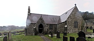 Llangoed - St Cawrdaf's Church, now closed.