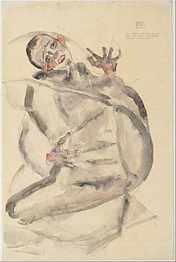 Egon Schiele - I Will Gladly Endure for Art and My Loved Ones, 1912 - Google Art Project
