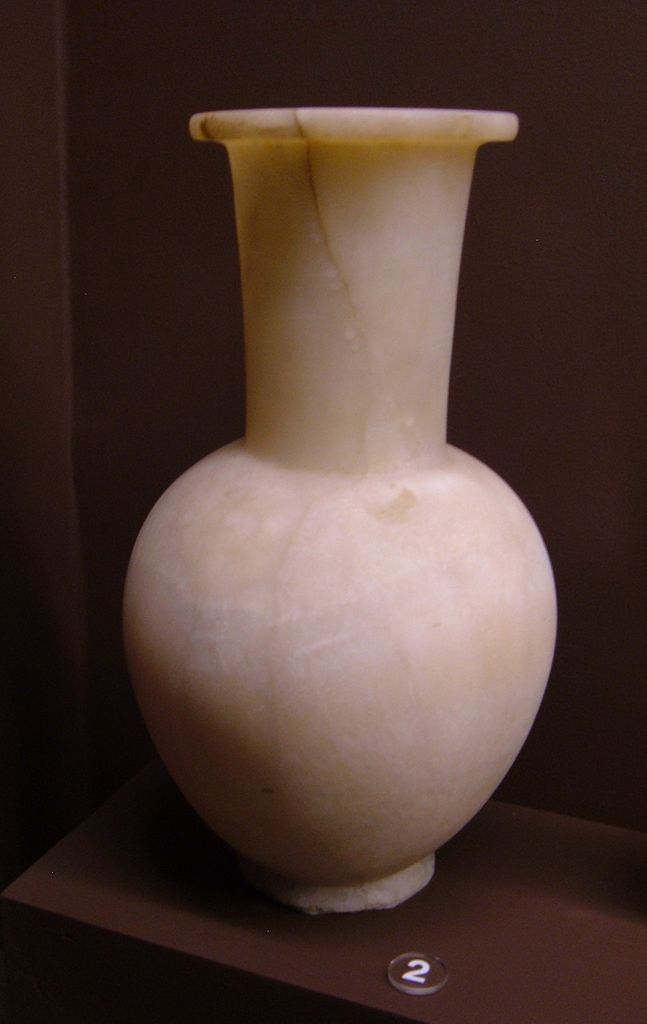 Fileegyptian Alabaster Vase Remg Wikimedia Commons